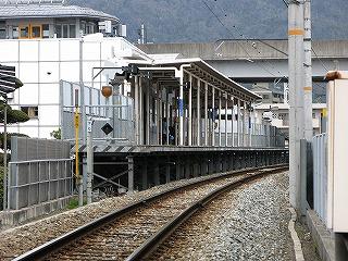 JR大町駅ホーム