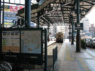 横川駅市内電車乗り場