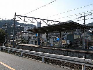 三滝駅ホーム