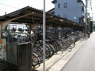 安芸長束駅駐輪場