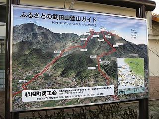 武田山登山図